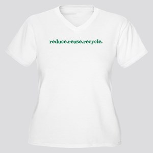 reduce.reuse.recycle. Women's Plus Size V-Neck T-S