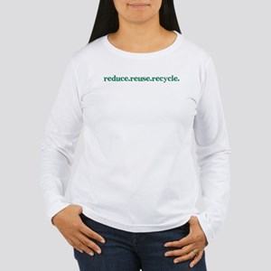 reduce.reuse.recycle. Women's Long Sleeve T-Shirt