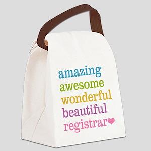 Amazing Registrar Canvas Lunch Bag
