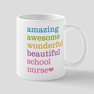 Amazing School Nurse Mugs
