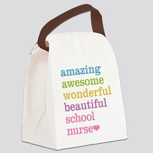 Amazing School Nurse Canvas Lunch Bag