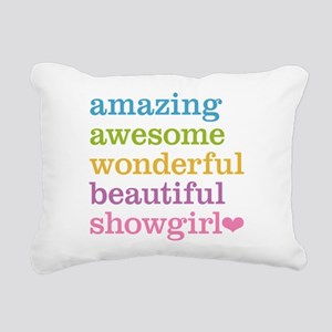 Amazing Showgirl Rectangular Canvas Pillow