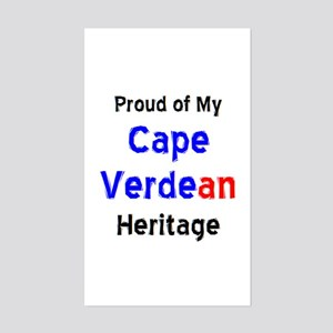 cape verdean heritage Sticker (Rectangle)