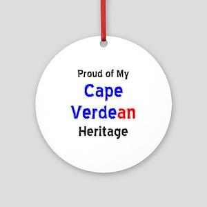 cape verdean heritage Ornament (Round)