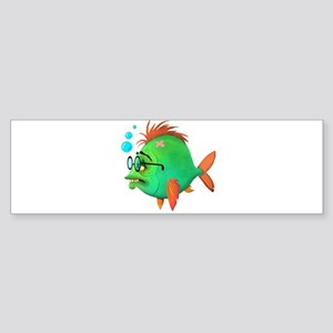 Fish Nerd Bumper Sticker