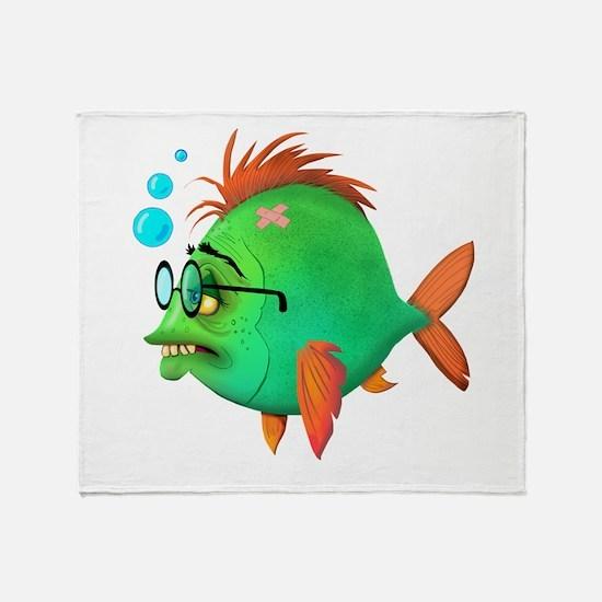 Fish Nerd Throw Blanket