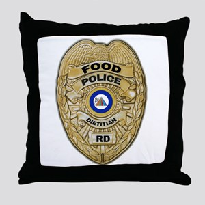 Food Police Throw Pillow