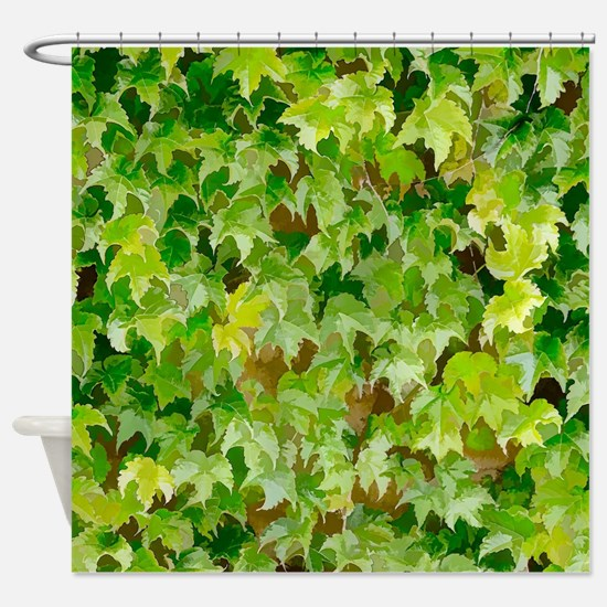 Ivy Covered Wall Shower Curtain