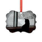 Cat Winter Picture Ornament
