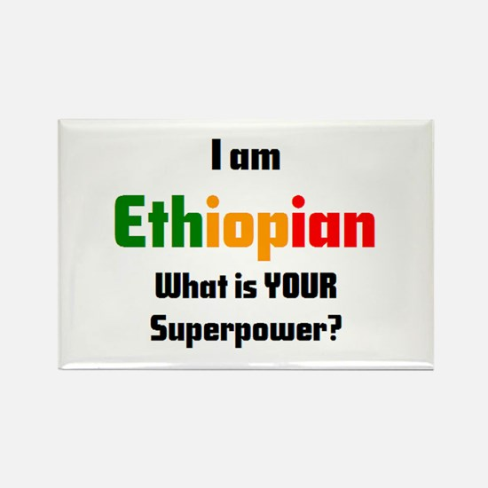 i am ethiopian Rectangle Magnet
