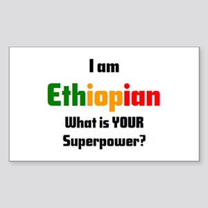 i am ethiopian Sticker (Rectangle)