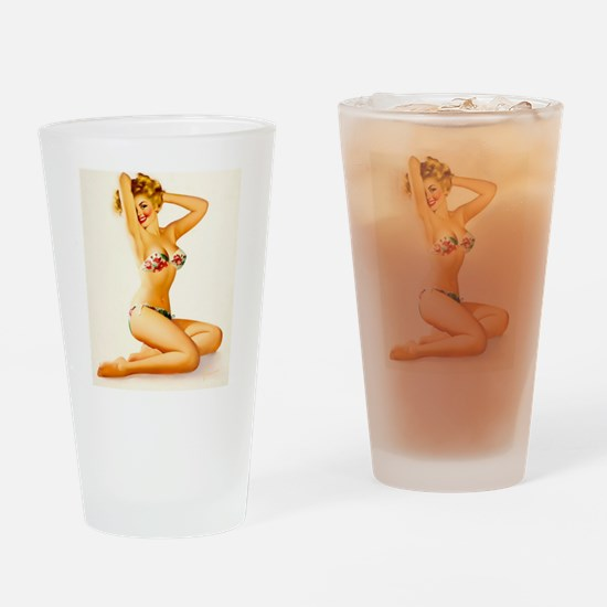 Pin Up: Bathing Suit ! Drinking Glass