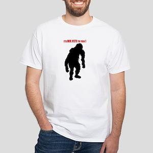 Mr. Yeti White T-Shirt