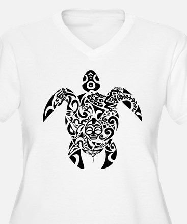 Tribal Sea Turtle Plus Size T-Shirt
