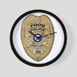 Food Police Wall Clock