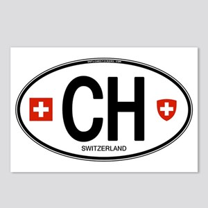 Switzerland Euro Oval Postcards (Package of 8)