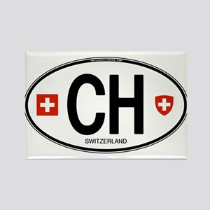 Switzerland Euro Oval Rectangle Magnet