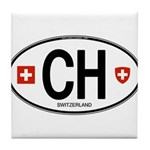Switzerland Euro Oval Tile Coaster