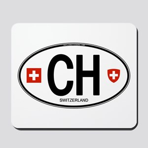 Switzerland Euro Oval Mousepad