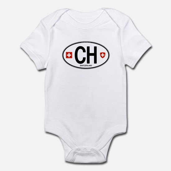 Switzerland Euro Oval Infant Bodysuit