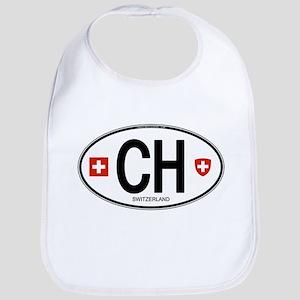 Switzerland Euro Oval Bib