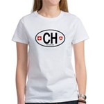 Switzerland Euro Oval Women's T-Shirt