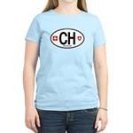 Switzerland Euro Oval Women's Light T-Shirt