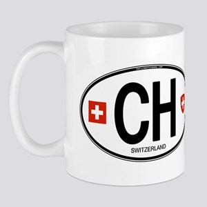 Switzerland Euro Oval Mug