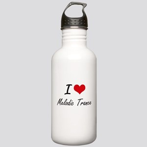 I Love MELODIC TRANCE Stainless Water Bottle 1.0L