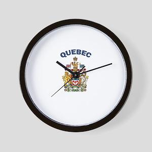 Quebec Coat of Arms Wall Clock