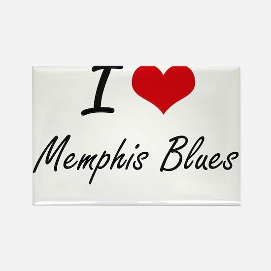 I Love MEMPHIS BLUES Magnets