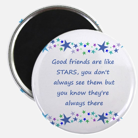 Good Friends Are Like Stars Inspirational Magnets