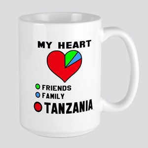 My Heart Friends, Family 15 oz Ceramic Large Mug