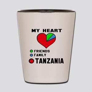 My Heart Friends, Family and Tanzania Shot Glass