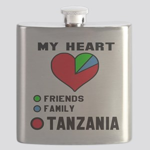My Heart Friends, Family and Tanzania Flask