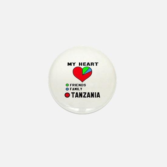 My Heart Friends, Family and Tanzania Mini Button