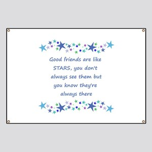 Good Friends are like Stars Inspirational Quote Ba