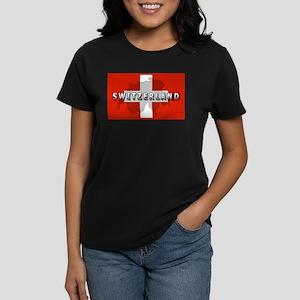 Switzerland Flag Plus Women's Dark T-Shirt