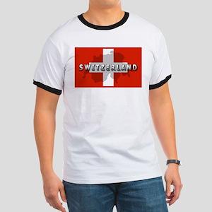 Switzerland Flag Plus Ringer T