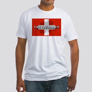 Switzerland Flag Plus Fitted T-Shirt