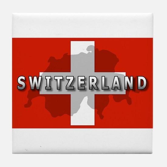 Switzerland Flag Plus Tile Coaster