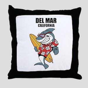 Del Mar, California Throw Pillow