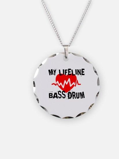 My Lifeline Bass drum Necklace Circle Charm