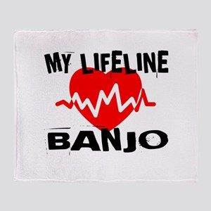 My Lifeline Banjo Throw Blanket