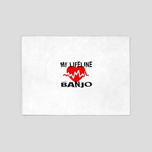 My Lifeline Banjo 5'x7'Area Rug