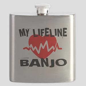 My Lifeline Banjo Flask
