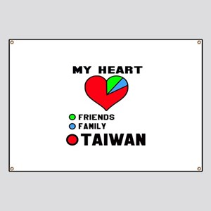 My Heart Friends, Family and Taiwan Banner