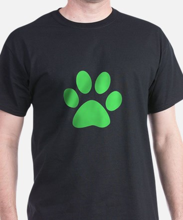 Lime Green Paw T-Shirt