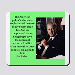 joe biden quote Mousepad