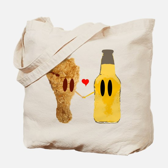 Chicken and beer Tote Bag